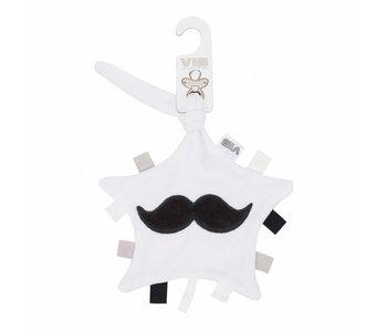 Tutteldoekje Mustache – Wit/Zwart
