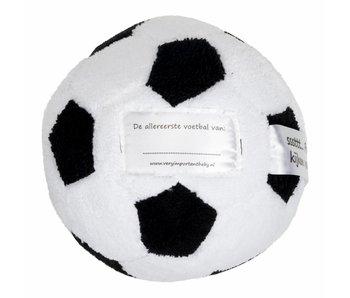 Knuffel Mijn Eerste Voetbal – Wit/Zwart