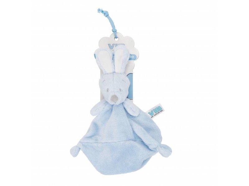 Very Important Baby Knuffel Pluche Konijn Knuffeldoekje - Blauw