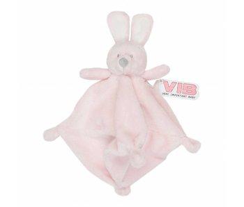 Knuffel Pluche Konijn Knuffeldoekje - Roze