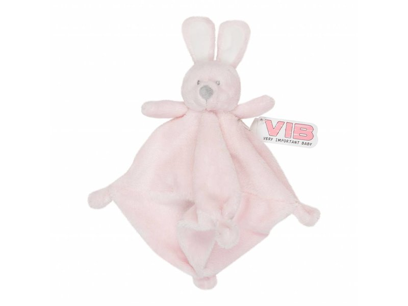 Very Important Baby Knuffel Pluche Konijn Knuffeldoekje - Roze