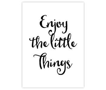 Woon-/Wenskaart Enjoy the little things