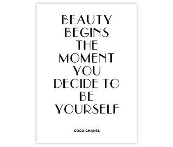 Woon-/Wenskaart Coco Chanel Beauty