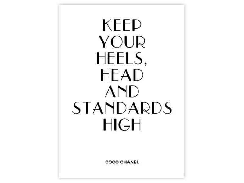 Prints & Posters Woon-/Wenskaart Coco Chanel