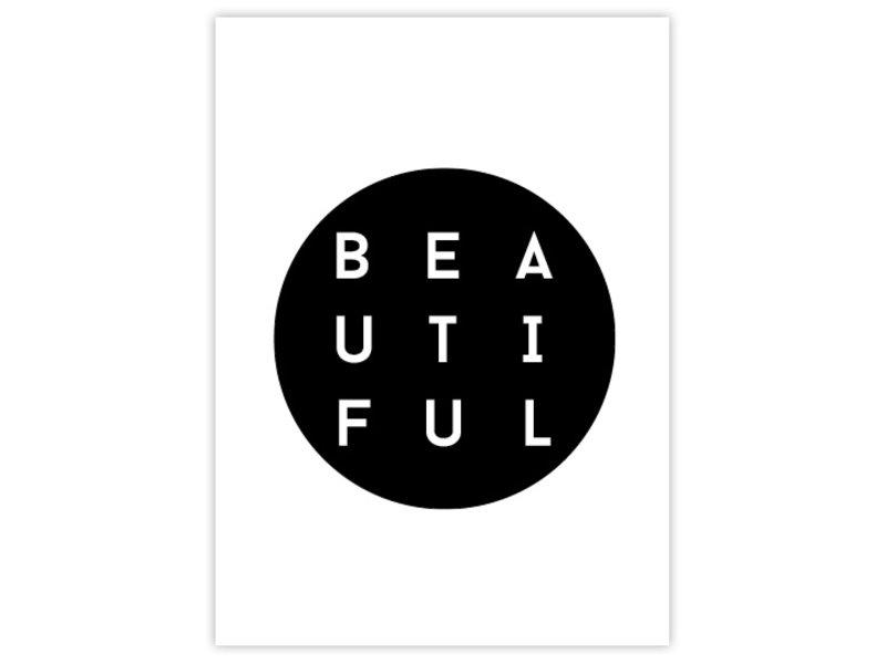 Prints & Posters Woon-/Wenskaart B E A U T I F U L