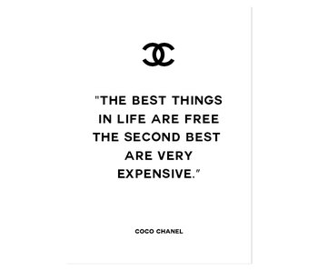 Woon-/Wenskaart Coco Chanel The best things