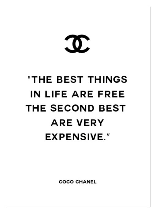 Woon-/Wenskaart Coco Chanel The best things