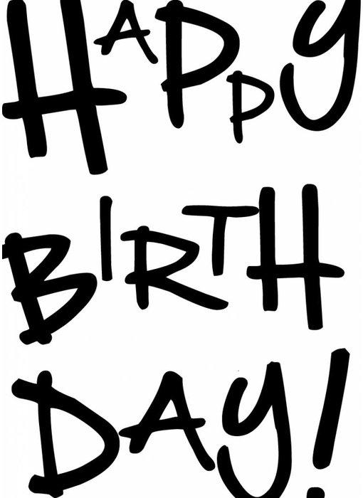 Woon-/Wenskaart Happy Birthday
