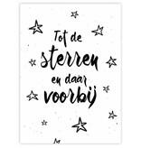 Prints & Posters Woon-/Wenskaart Tot de sterren en daar voorbij