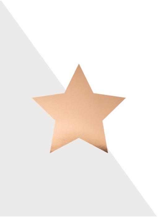 Woon-/Wenskaart Koperen ster