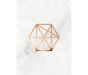 Woon-/Wenskaart Koperen polygon