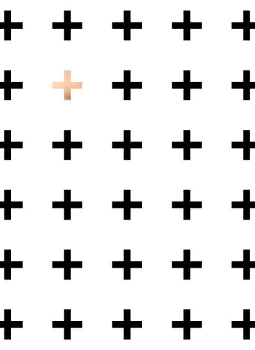 Woon-/Wenskaart Kruisjes patroon