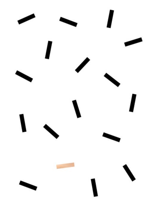 Woon-/Wenskaart Streepjes patroon