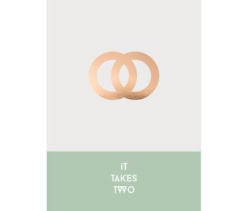 Woon-/Wenskaart It takes two