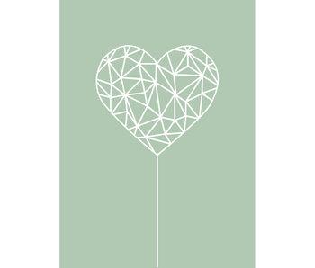 Woon-/Wenskaart Heart