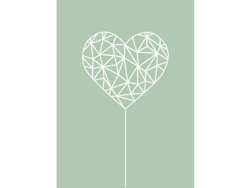 Prints & Posters Woon-/Wenskaart Heart