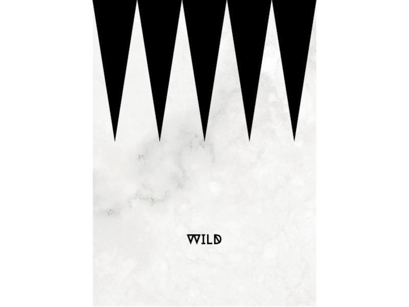 Prints & Posters Woon-/Wenskaart Wild