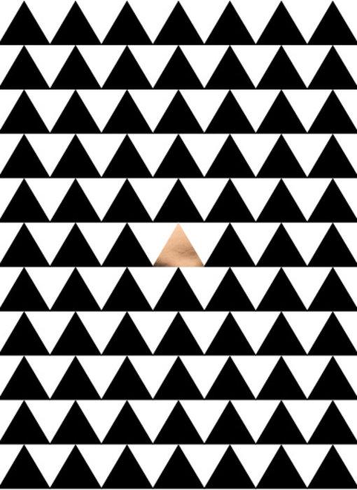 Woon-/Wenskaart Driehoek patroon