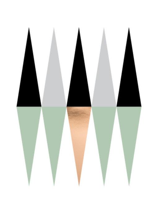 Woon-/Wenskaart Geometrisch patroon