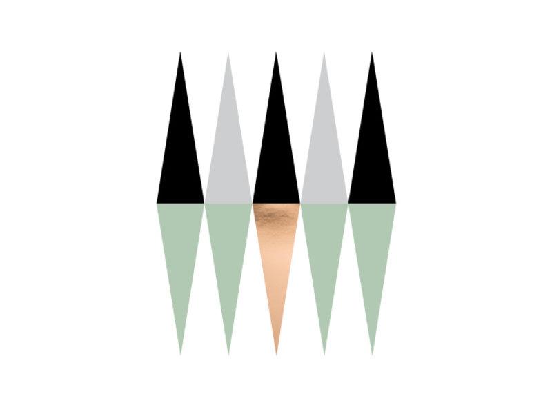 Prints & Posters Woon-/Wenskaart Geometrisch patroon