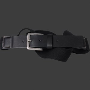 Riem elastisch North zwart 99006 / omvang 160 cm