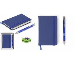 Notitieboekje met aluminium pen in geschenkdoosje