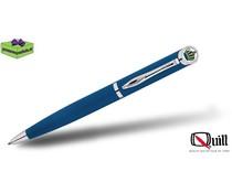 Quill pennen met doming en gravure 510 blauw