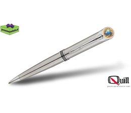 Quill luxe pennen met doming en gravering 1000 chroom