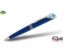 Quill pennen met doming en gravering 1000 blauw