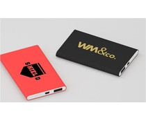 Powerbanks met logo graveren Sharp 4000