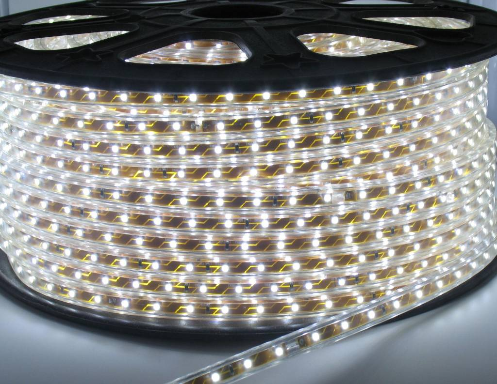 100 Meter High Voltage LED strip Helder Wit - Groothandel-XL
