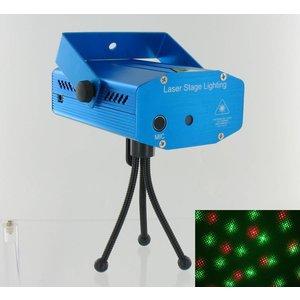 Rote und grüne Laser-Show