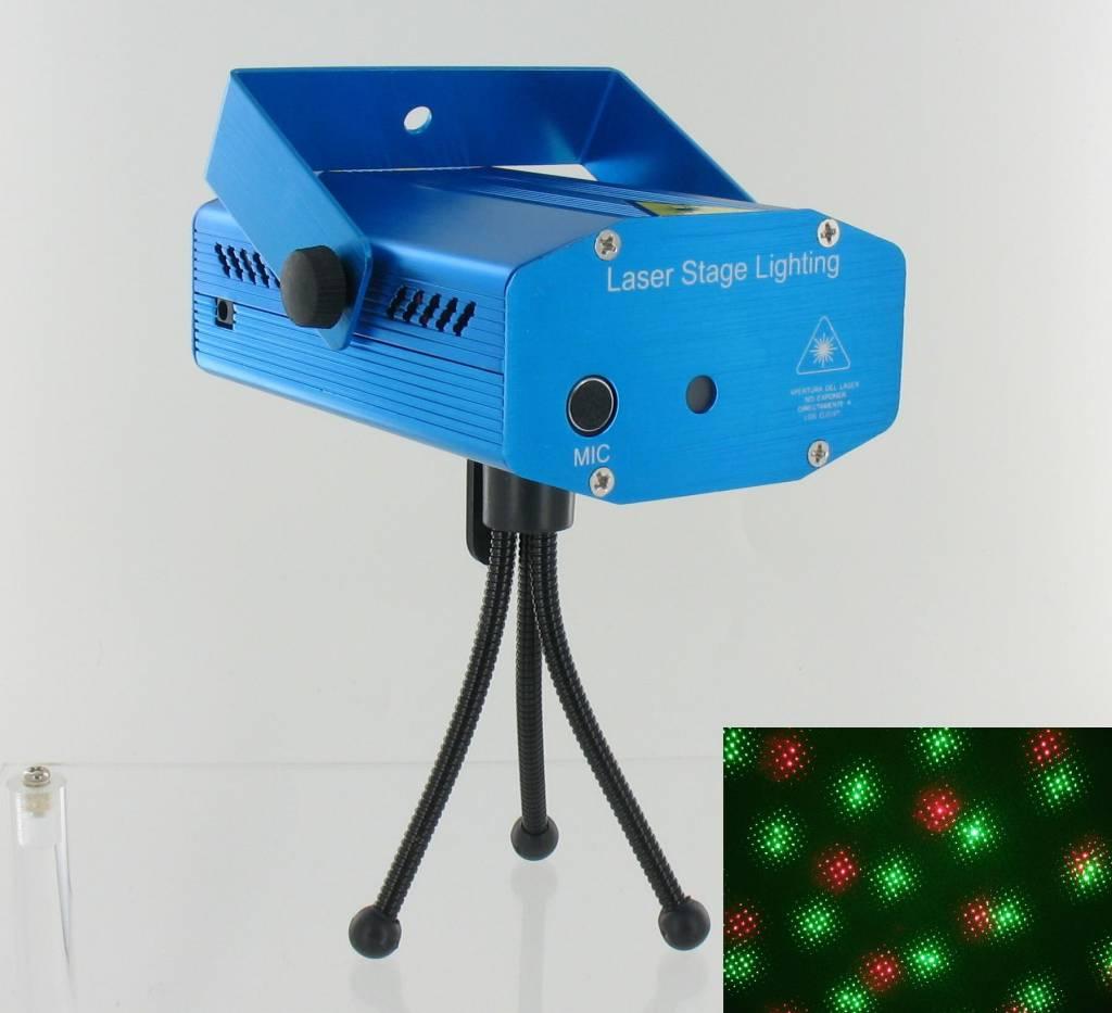 Rote und grüne Lasershow