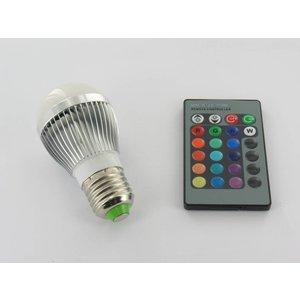 "3 Watt RGB-LED-Lampe ""Lampe E27 mit IR-Fernbedienung"