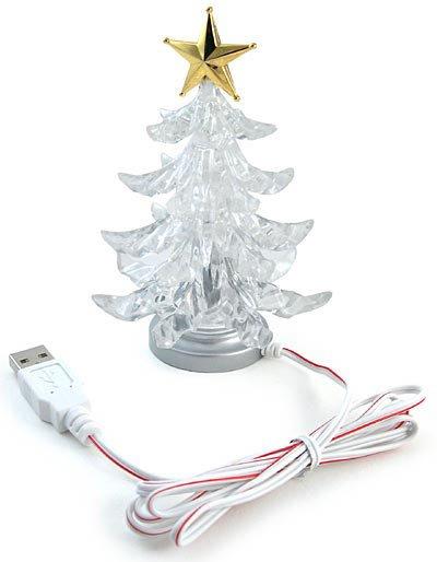 USB arbre de Noël avec 7 couleurs RVB