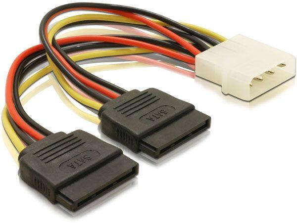 Molex to 2x SATA<br>Power Cable