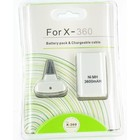 Play & Charge Kit avec Batterie pour XBOX 360