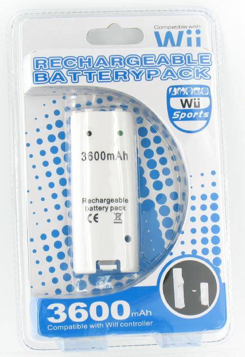 Battery Battery<br> for Wii Controller<br>3600 mAh