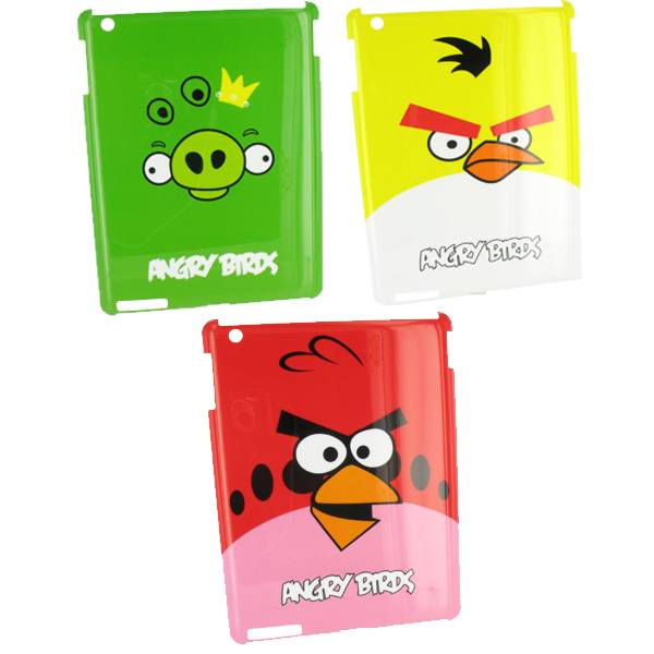 Clip-On Hard Case<br> for iPad 2 Angry<br>Birds