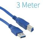 USB 3.0 A - B Druckerkabel 3 Meter