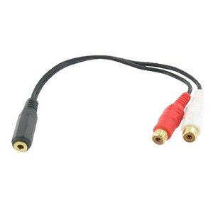 3,5 mm Klinke-Stecker auf Cinch-Buchse Kabel 2x