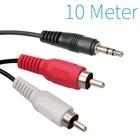 3,5mm Jack Male naar 2x Tulp Male Kabel 10 Meter