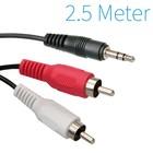 3,5 mm Klinke Stecker auf Cinch-Stecker-Kabel 2,5 Meter 2x