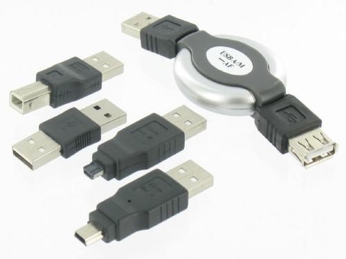 5-częściowy Zestaw<br> złączy USB dla PC,<br>laptop, smar