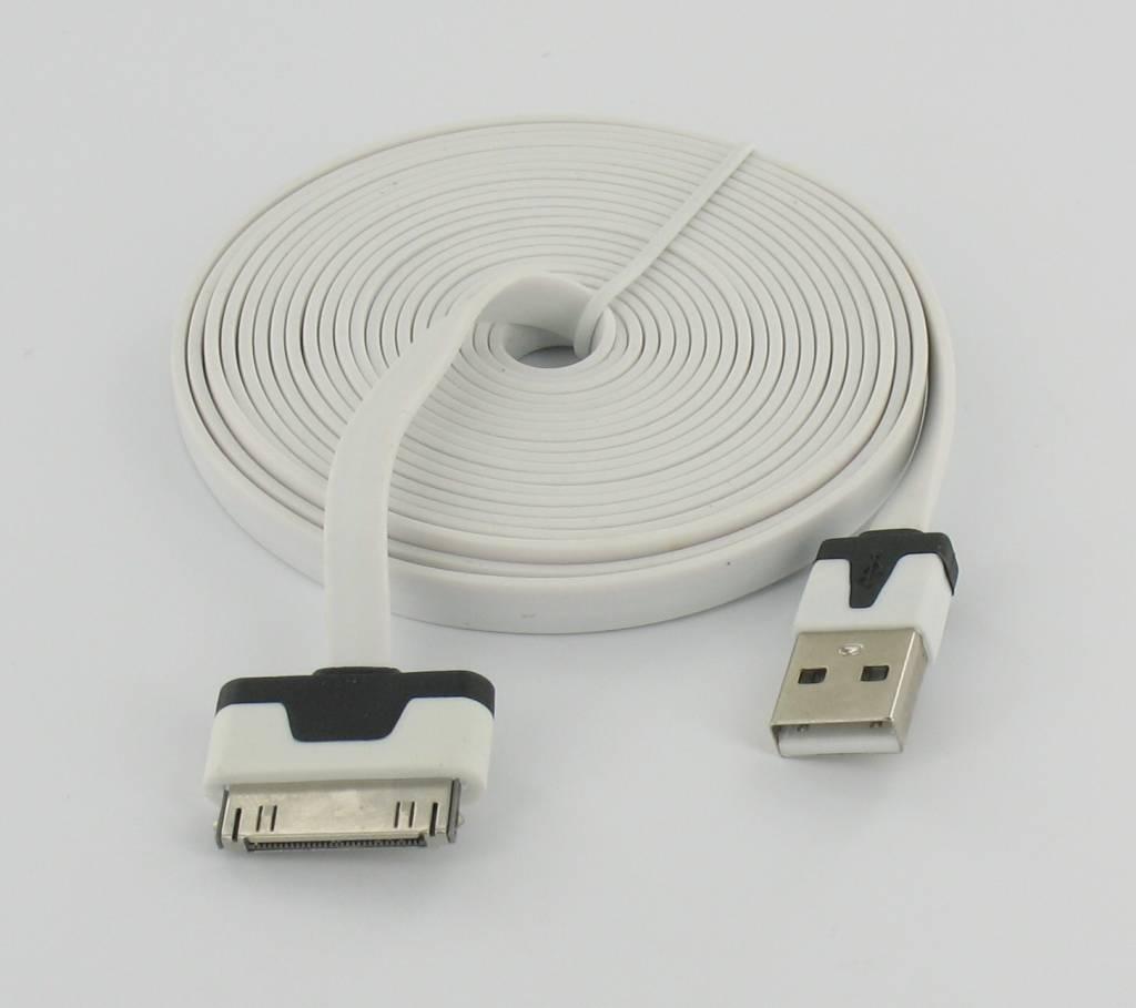 Câble USB 3m Ultra plat pour Iphone 3/4 & S /