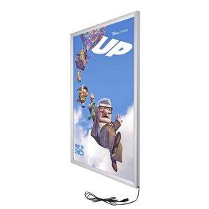 LED Klicken Sie auf Liste anzeigen / Plakat-Vorstand mit Aluminiumrahmen 30 x 40 cm