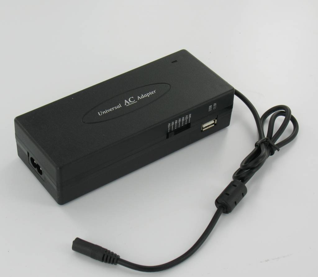 universal notebook adapter 120w mit usb anschluss. Black Bedroom Furniture Sets. Home Design Ideas