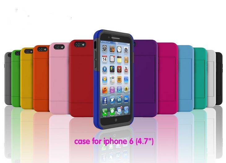 iPhone Case with 6<br> cards holder (4.7<br>&#39;&#39;)