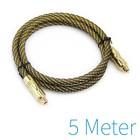Optische kabel gold plated 5 meter