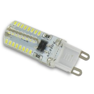 3 Watt LED Lampe G9 klar, weiß